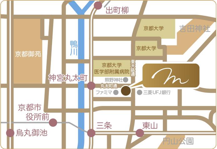 京都市左京区聖護院 美里歯科へのアクセスマップ