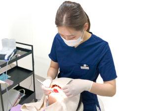 美里歯科の1年メンテナンス・歯周病の検査